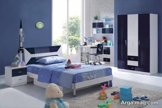 رنگ تخت خواب پسرانه