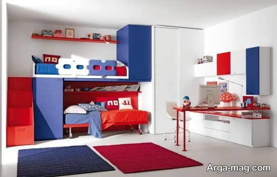 تخت خواب پسرانه اتاق کوچک