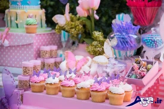 تم تولد گل و پروانه برای جشن تولد