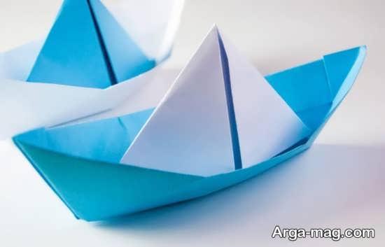 کاردستی قایق با کاغذ رنگی