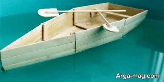 کاردستی قایق با چوب بستنی