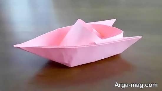 مدل قایق کاغذی زیبا و ساده