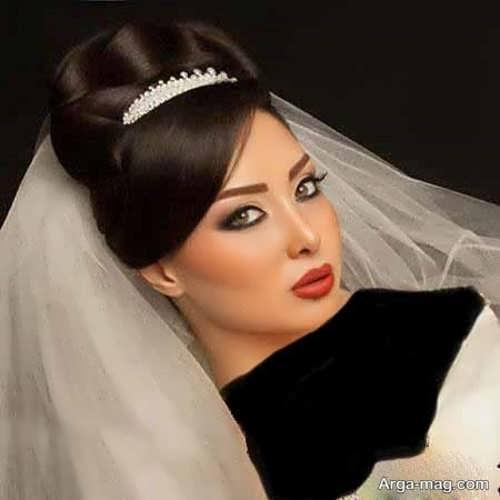 مدل موی عروس برای صورت گرد