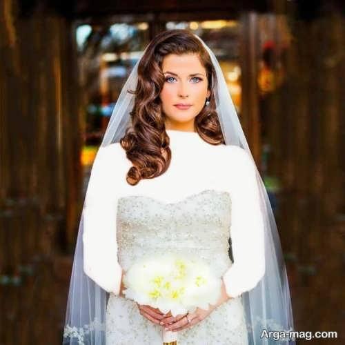 مدل موی باز عروس برای صورت گرد