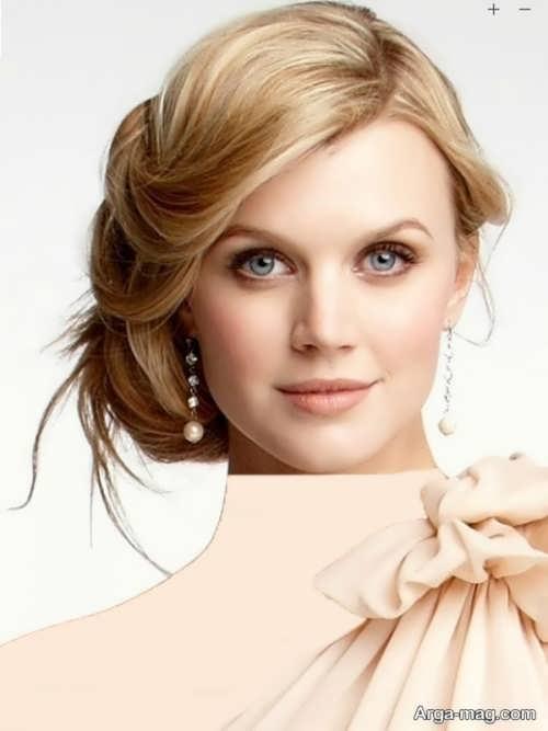 مدل مو بسته عروس برای صورت گرد