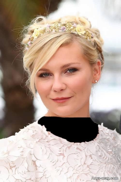 مدل موی عروس برای صورت گرد و درشت