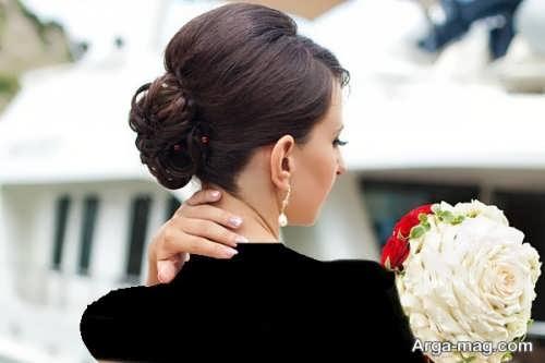 مدل موی بسته عروس برای صورت گرد