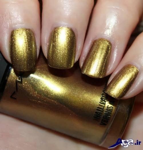 رنگ لاک طلایی