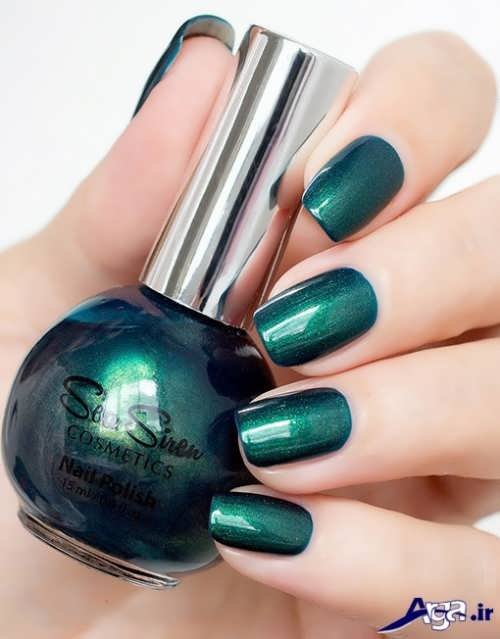 رنگ لاک سبز برای پوست سبزه