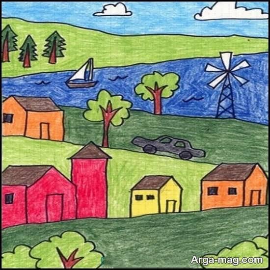نقاشی طبیعت بچگانه
