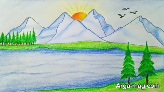 مدل نقاشیهای بچگانه از طبیعت