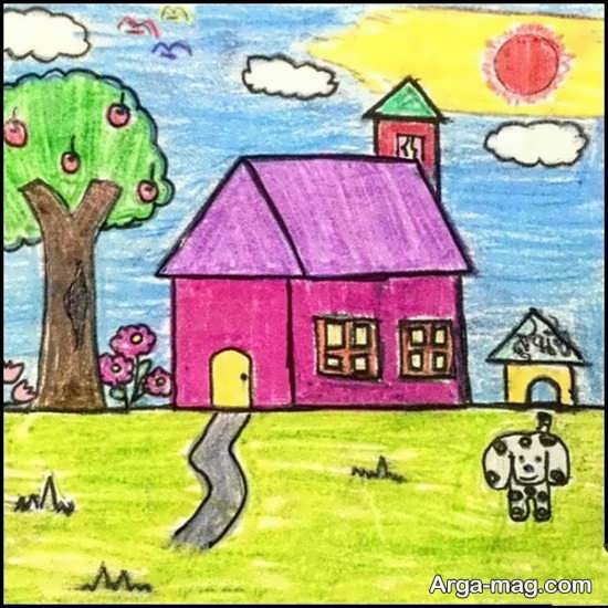 نقاشیهای طبیعت کودکانه