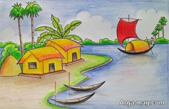 نقاشیهای زیبای طبیعت برای کودکان
