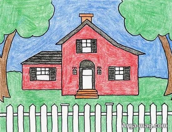 مدل نقاشی طبیعت کودکانه