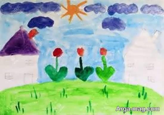 نقاشی از طبیعت برای کودکان