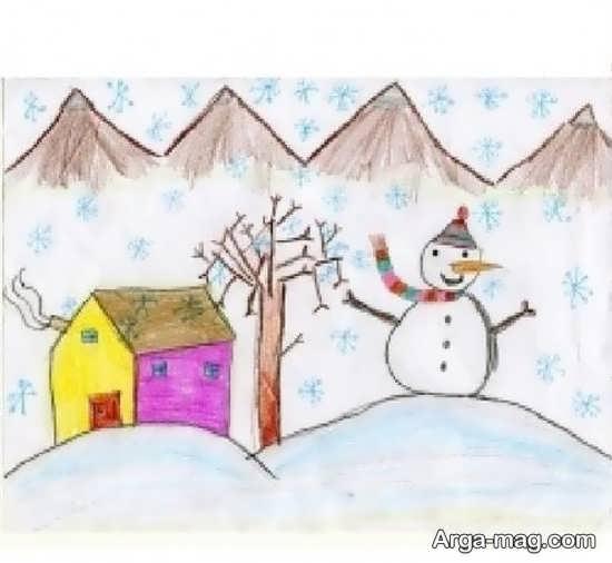 نقاشی طبیعت برای بچه ها