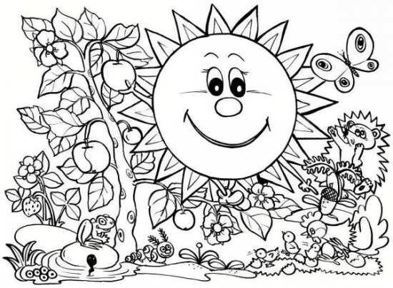 نقاشی طبیعت کودکانه