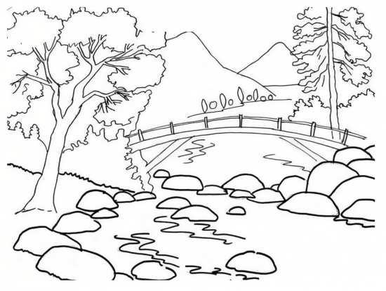 نقاشی شیک و متفاوت طبیعت