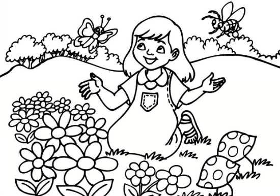 طراحی درخت ساده نقاشی طبیعت کودکانه با طرح های جذاب و خلاقانه