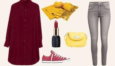 ست رنگ زرشکی برای انواع لباس های مجلسی و رسمی