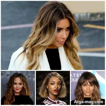 انواع مدل های رنگ موی ترکیبی