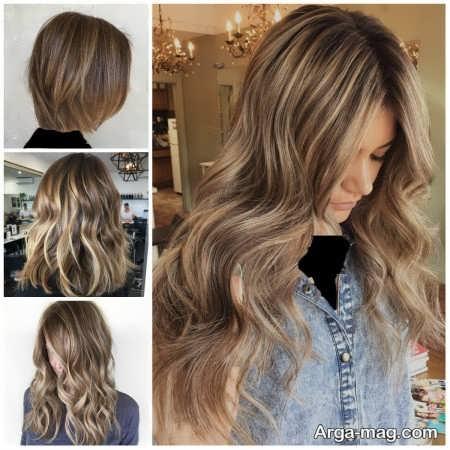 انواع رنگ موهای زیبا ترکیبی