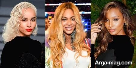 انواع مدل رنگ موهای روشن و تیره ترکیبی