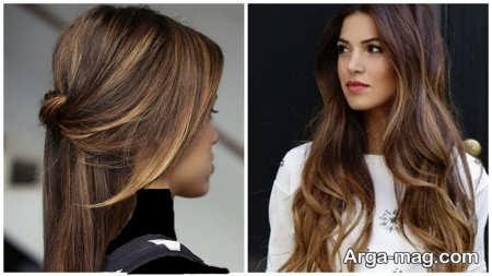 رنگ موی زیبا و شیک ترکیبی