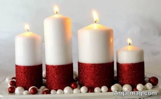 تزیین شمع با روبان قرمز