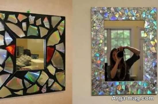 تزیین آینه با سی دی