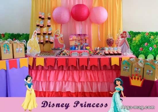 ایده تم تولد پرنسس های والت دیزنی برای جشن تولد دختارنه