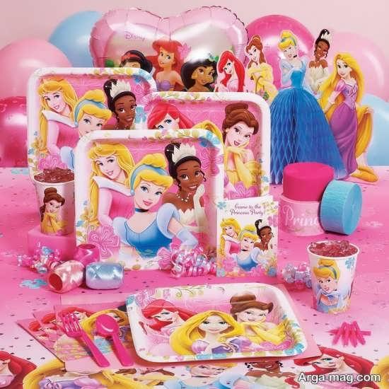 ایده پرنسس های دیزنی برای تم تولد دخترانه