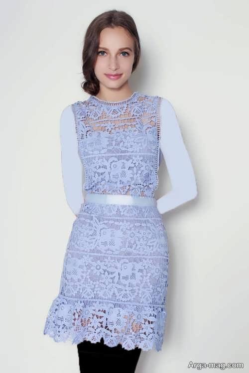 مدل لباس گیپور دخترانه مجلسی