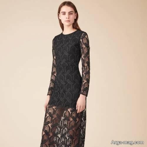 مدل لباس مجلسی مشکی گیپور