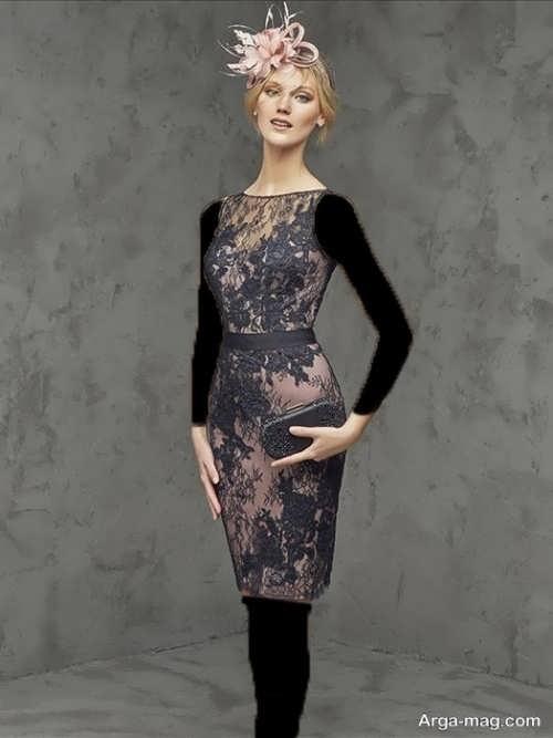 مدل زیبا و شیک لباس مجلسی گیپور