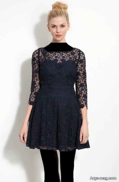 مدل لباس مشکی گیپور دخترانه