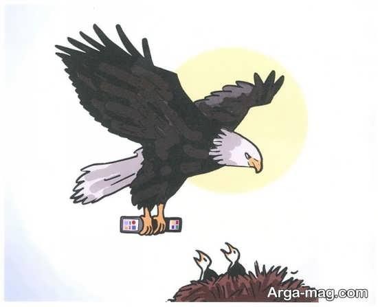 نقاشی عقاب