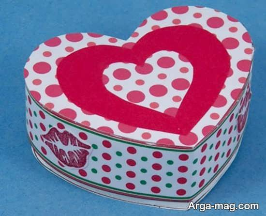 آموزش جعبه کادو قلبی