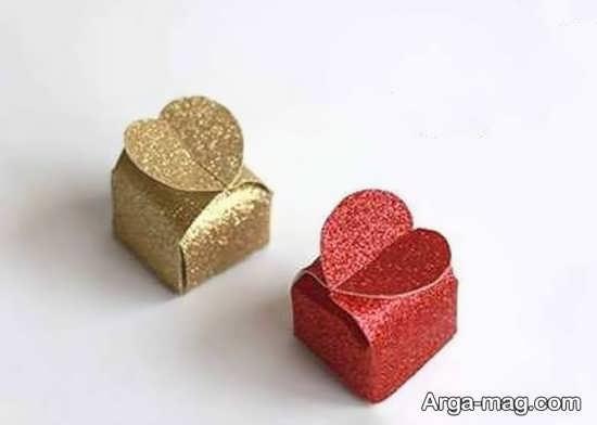 ساخت جعبه کادو قلبی