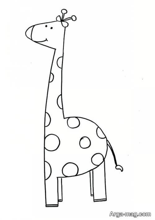 نقاشی زرافه کارتونی