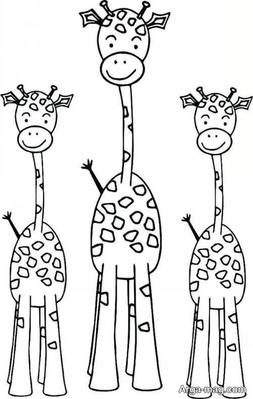 طراحی حیوان زرافه
