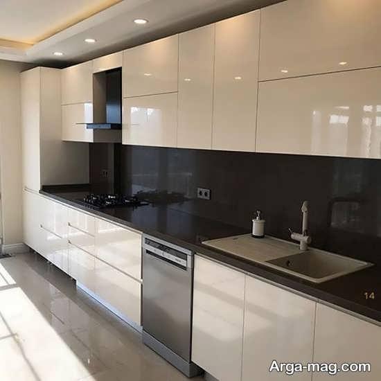 مدلی از کابینت آشپزخانه های گلاس
