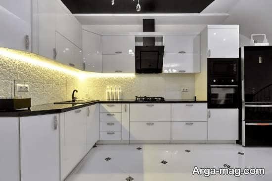 تصاویر کابینت آشپزخانه های گلاس