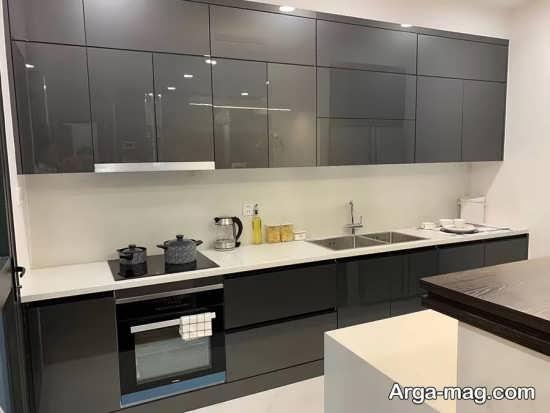 انواع کابینت آشپزخانه های گلاس