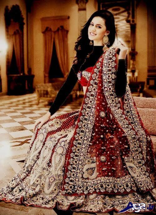 مدل لباس هندی طرح دار