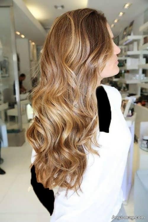 رنگ مو شیک عسلی