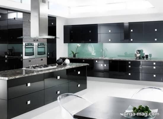 مدل کابینت مشکی آشپزخانه