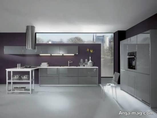 مدل کابینت آشپزخانه هایگلاس با طراحی شیک و جدید