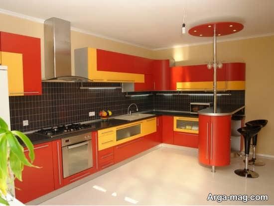 مدل کابینت های گلاس آشپزخانه