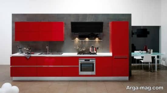 مدل کابینت قرمز هایگلاس